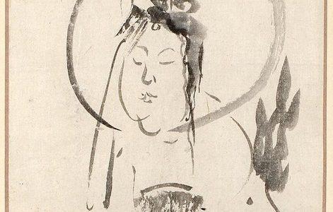 仙厓の「文殊菩薩画賛」
